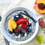Chia pudding with homemade almond milk