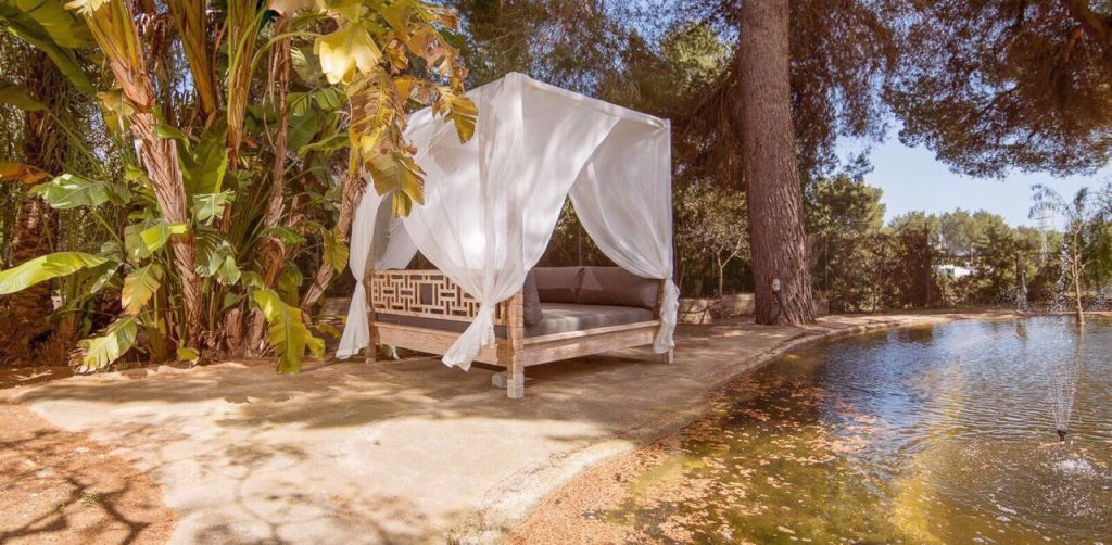 ibiza yoga retreat daybed